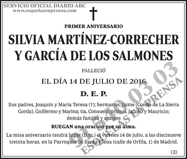 Silvia Martínez-Correcher y García de los Salmones